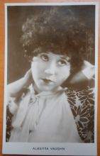 Alberta Vaughn, Actress,Vintage Postcard, Silent Film star, c20s